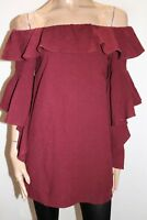 MINISTRY OF STYLE Brand Wine Off Shoulder Dress Size 8 LIKE NEW #AN02