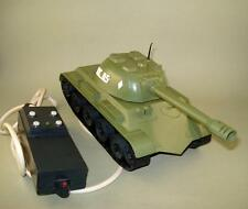 Vintage Ussr Russian Battle Tank Toy Batt. Op. Remote Control - For Restoration