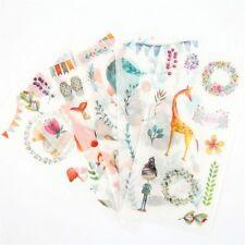 6pcs Cute Animals Stickers DIY Scrapbooking Photo Album Decor Kawaii Stickers