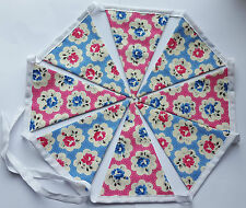 Cath Kidston Provence Rose Fabric Handmade Bunting Garland Fabric Backed