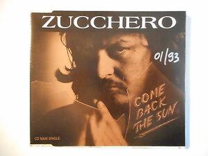 ZUCCHERO : COME BACK THE SUN ♦ CD SINGLE ITALIE PORT GRATUIT ♦