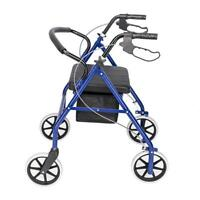 300 LB Heavy Duty Extra Wide Bariatric Rollator Rolling Walker with Padded Seat