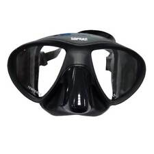 CARINA FREEDIVING MASK BLACK SILICONE SCUBA DIVING LOW VOLUME SIMILAR MICROMASK