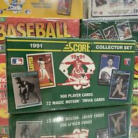 1991 Score Baseball Cards Collector Set Box Factory Sealed 900 Cards