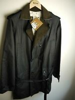 """Barbour Men's """"Owner"""" Waxed Jacket, Navy Blue, Medium, New With Tags,"""