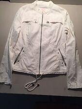 Maurice's White M Zipper/Button Long Sleeve Women's Jean Jacket *