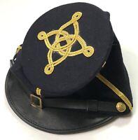 CIVIL WAR US UNION CAPTAIN OFFICER WOOL KEPI FORAGE BUMMER CAP -LARGE