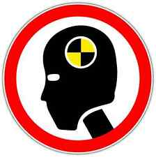 "Crash Test Dummy Funny Car Bumper Window Vinyl Sticker Decal 4.6""X4.6"""