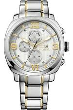 Tommy Hilfiger Men Multi-Function Steel Two Tone Date Watch 45mm 1790971 $165
