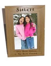 Sorelle in legno Photo Frame 6x8-personalizzare questo riquadro-INCISIONE GRATUITA