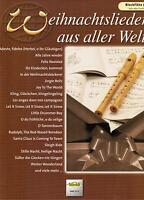 Blockflöte Noten : Weihnachtslieder aus aller Welt leicht - leichte Mittelstufe