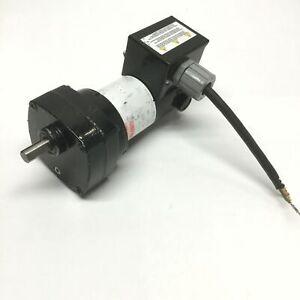 Dayton 6Z916 Permanent Magnet DC Gearmotor, 90VDC, 13:1 Ratio, 139RPM, 1/20HP