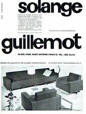 PUBLICITE ADVERTISING 126  1962  sièges canapés-lit  Solange Guillemot