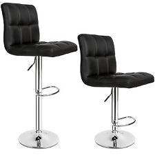 2 Tabourets de bar set chaise fauteuil bistrot pivotant siège design noir