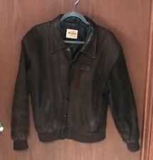 Hard Rock Cafe Makati Phillipines Brown Soft Leather Jacket Coat Sz S  TUB25
