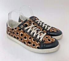GUCCI Leopard Print Calf Hair Sneakers Size 38 $645