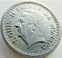 ND MONACO, Louis II, 1 Franc, grading EXTRA  FINE.