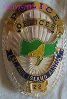 IN18180 - POLICE OFFICER ST. PAUL ISLAND ALASKA BADGE - COPY