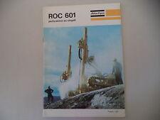 - CATALOGO DEPLIANT BROCHURE ATLAS COPCO PERFORATRICE ROC 601 - ANNO 1970