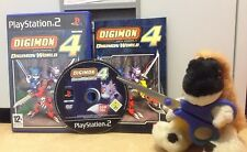 RARO Digimon World 4 SU PLAYSTATION 2 PS2 RPG Adventure gioco come POKEMON