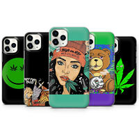 Unkraut Cannabis Art II Gel Handyhülle für iPhone SE 5 6 7 8 11 XS XR Pro Max