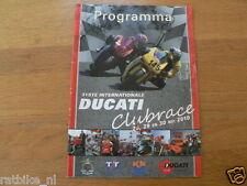 2010 DUCATI CLUBRACES CIRCUIT ASSEN PROGRAMMA,DUCATI CLUB NEDERLAND