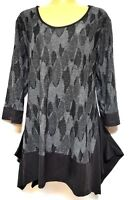 TS top TAKING SHAPE plus sz XS / 14 Delta Top funky soft stretch draping NWT!