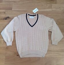 Vintage Lyle And Scott V Neck Cable Knit Sweater