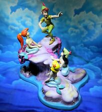 Wdcc Peter Pan & the Mermaids: Spinning a Spellbinding Story Mib w/Coa
