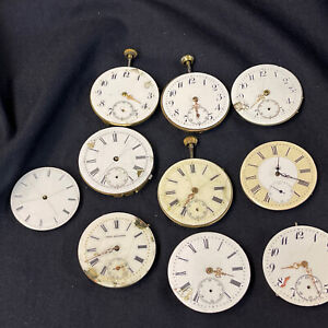 Konvolut Taschenuhr Uhrwerk Antik Open Face Lepine Herrenuhr Vintage Uhrmacher