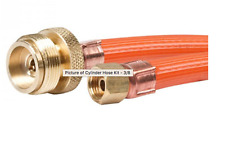 "COMPANION AQUACUBE LOGIC PORTABLE SHOWER LPG GAS HOSE 3/8"" X BOM 1.5M"