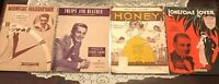 4 Vintage Sheet Music Perry Como Guy Lombardo Paramount Picture Honey