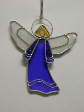 Medium Stained Glass Angel - Dark Blue - R508DB