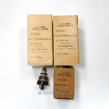 Lot of 4 Untested, Vintage Military Boxed/Loose Vacuum Tubes - Type 2C44