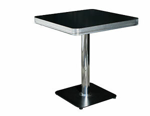 New Retro 50s US Diner Furniture Small Kitchen Table Resturant Cafe Pub 70 x 70