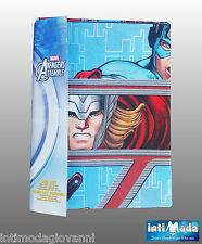 Completo Letto Lenzuola Singolo Marvel Avengers Cotone Sopra Sotto angoli Federa