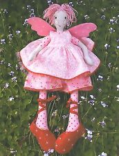 FAIRY FLOSS - Sewing Craft PATTERN - Soft Toy Felt Angel Rag Doll Bear