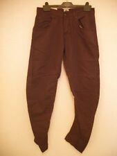 crafted twist fit brown canvas jeans size 30 waist 32 leg 100% cotton