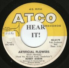 Bobby Darin 45 (Atco 6179) Artificial Flowers /Somebody To Love   VG++