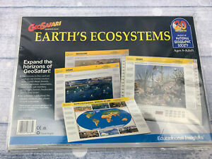 GeoSafari Earth's Ecosystem EL-8765 9 double sided cards National Geographic map