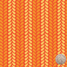 122000078 - Spectrum Knit Stitch in Chamomile Fabric by the Yard Orange Stripes