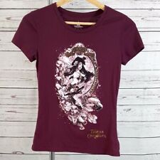 Disney Parks red princess Pirates of the Caribbean short sleeve fitted graphic t