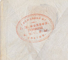 "PRIVATE FORWARDER ON OCEAN MAIL:  ""J.M. GORDON/treasurer/(A.B.C.F.M.)/Boston"""