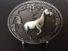 New Antique Silver Western Horse Belt Buckle