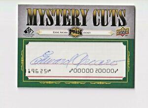 2008 SP Legendary Cuts Mystery Cut Signatures #EA2 Eddie Arcaro/95/136
