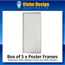 BOX of 5 x Custom Silver SNAP LOCK Poster Frame CLIP LOCK Poster Frame