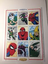 1999 The Amazing Spider-man 1960's Guinea stamp sheet. *MNH