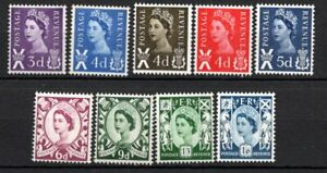 British wilding regional mint stamps from Scotland SGS1-SGS11 GB full set values