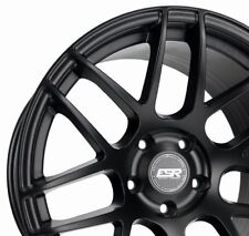 ESR RF1 18x8.5 +30 18x9.5 +22 5x100 Matte Black FRS BRZ Celica Corolla TC XD 86