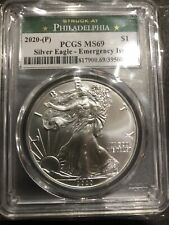 2020 P Silver Eagle Emergency issue MS69